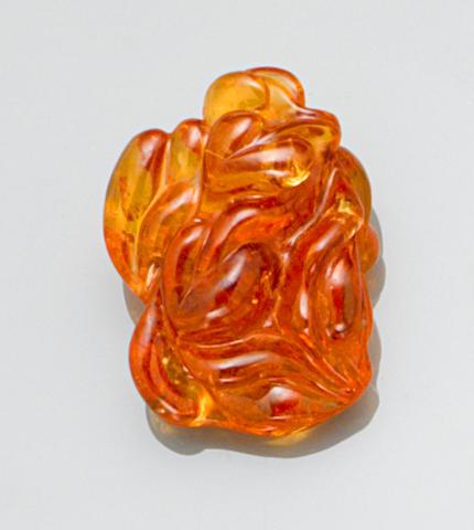 Very Large Free-form Carved Spessartite Garnet