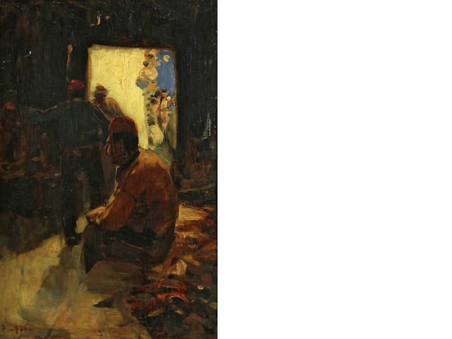 Frank Brangwyn, Shoe Shop, 12 x 8in