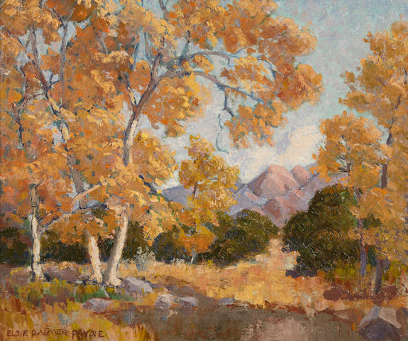 Elsie Palmer Payne (American, 1884-1971) California landscape, signed, oil on canvas, 20 x 24in