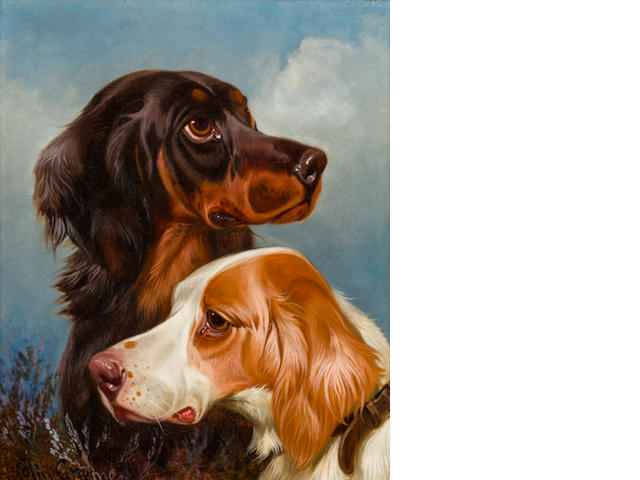 Colin Graeme Roe (British, 1850-1910) Setters; Pointers: Two 12 x 10 in. (30.5 x 25.4 cm.)