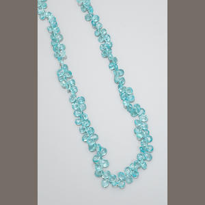 Apatite Bead Necklace