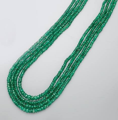 Tsavorite Garnet Necklace