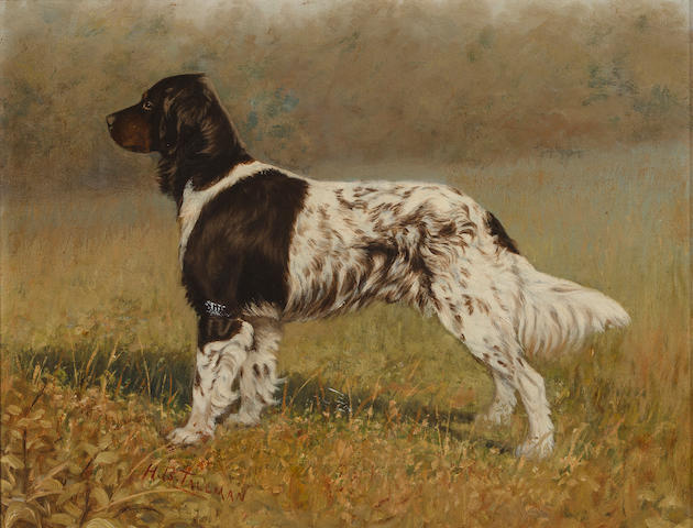 H.B. Tallman (American, 19th century) English Setter in a field 12 x 15 in. (30.5 x 38.1 cm.)