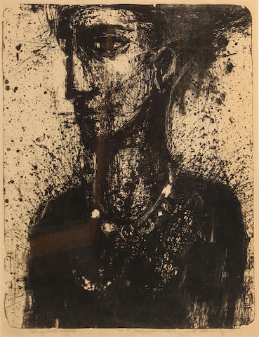 Nathan Oliveira (American, 1928-2010); Mona; To Edgar Allan Poe VII; (2)
