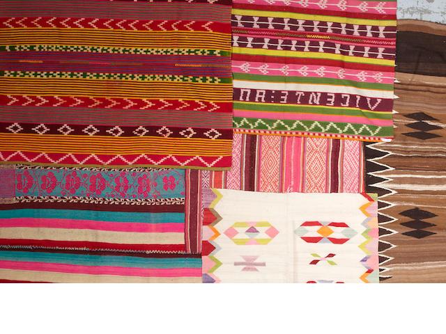 Six Bolivian blankets