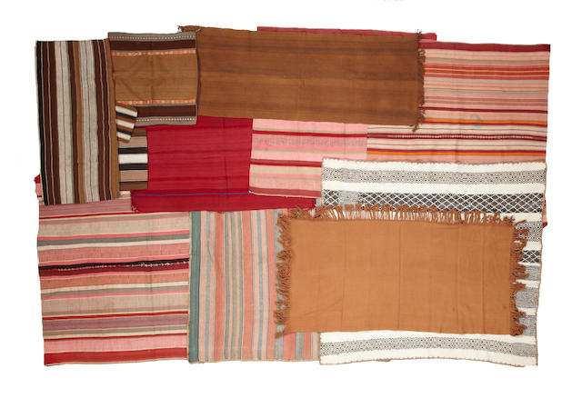 A group of Bolivian textile