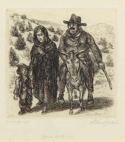 John Sloan, Santa Fe Family, (M. 302), Etching