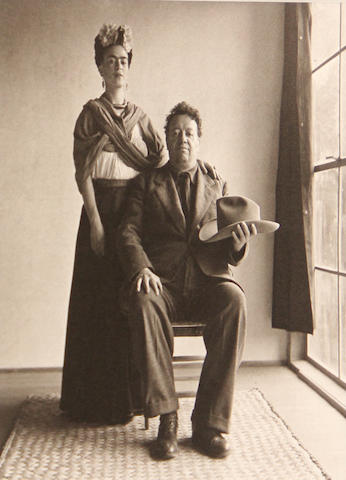 Nickolas Muray (Hungarian, 1892-1965); Frida and Diego with Hat, from Frida Kahlo as seen by Nickolas Muray;