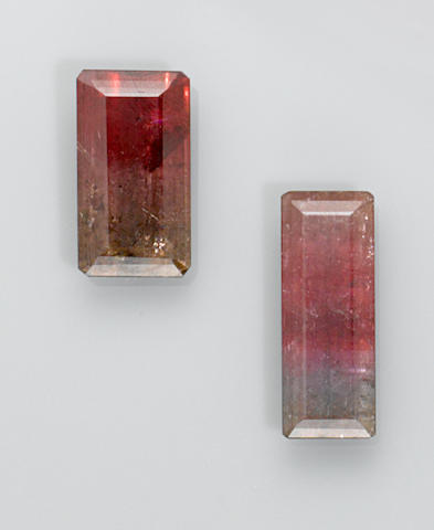 Two Multi-color Tourmalines