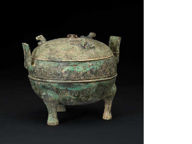 A Western Han dynasty bronze ding