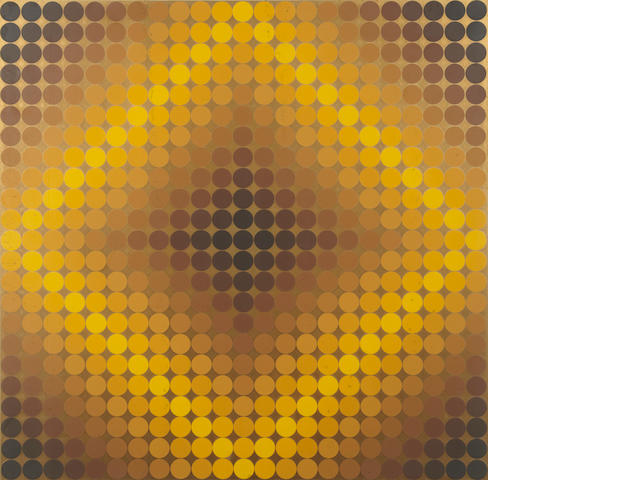 Victor Vasarely (Hungarian, 1906-1997); Diaf Negative and Diaf Positive; (2)