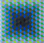 Vasarely (4), Homage to the Hexagon