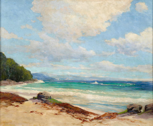 Leon Durand Bonnet (American, 1868-1936) Clouds along a sunny coast 25 x 30in