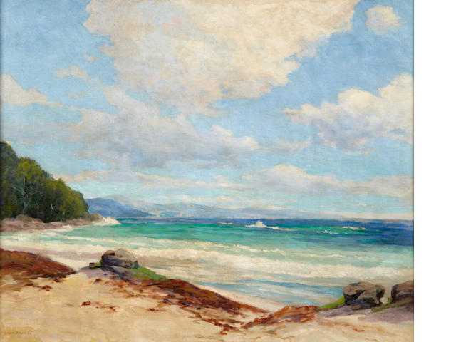 Leon Durand Bonnet (American, 1868-1936) Clouds along a sunny coast