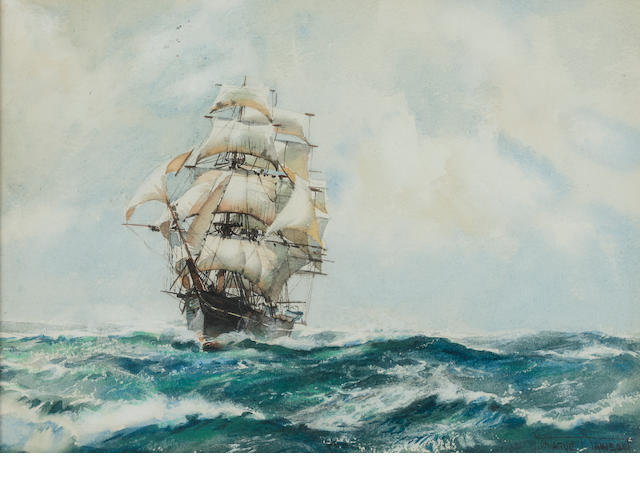 Montague Dawson watercolor