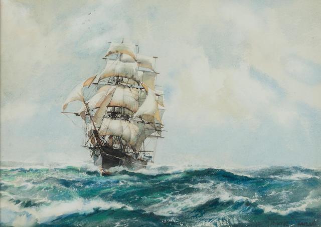 Montague Dawson watercolor