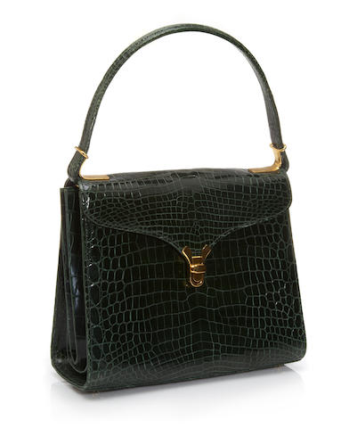 A Kwanpen green crocodile 'First Lady' handbag