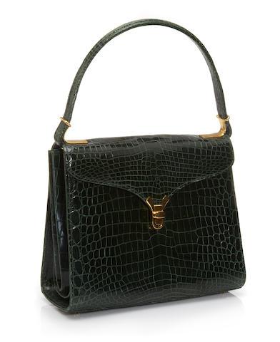 A Kwanpen green crocodile 'First Lady' handbag