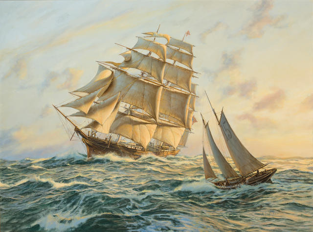 Anthony D. Blake (born New Zealand 1951) The clipper ship Sovereign of the Seas 30 x 40 in. (76.2 x 101.6 cm.)