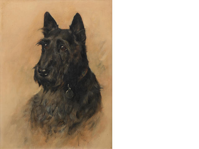 Arthur Wardle, RI (British, 1864-1949) Portrait of the Scottish Terrier 'Mac' 18 x 12 in. (45.5 x 30.5 cm.)
