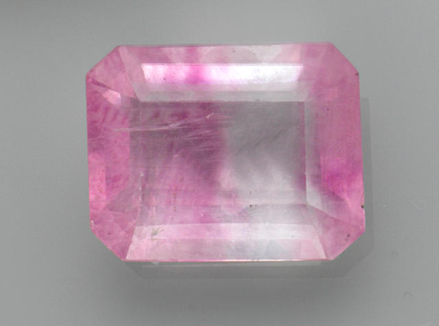 Pinkish-Purple Banded Fluorite—A  Member of the 100 Carats Club