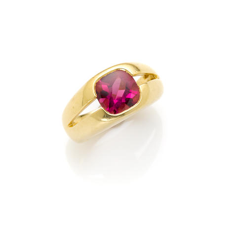 A pink tourmaline ring, Tiffany & Co.,