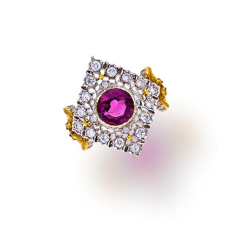 A ruby and diamond ring, Buccellati