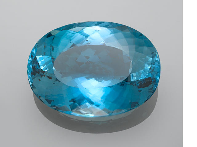 Immense Blue Topaz—A  Member of the 100 Carats Club