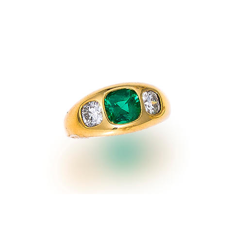 An emerald and diamond ring, Tiffany & Co.