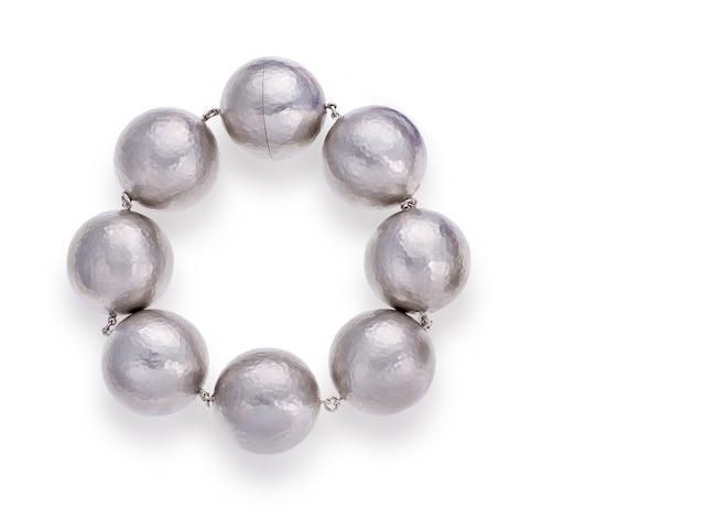 An eighteen karat white gold bracelet, Paloma Picasso for Tiffany & Co.