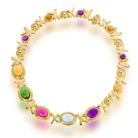 An eighteen karat gold and gem-set necklace, Paloma Picasso for Tiffany & Co.