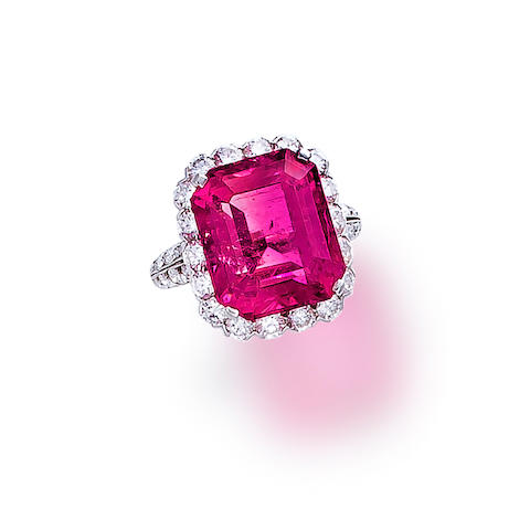 A pink tourmaline and diamond ring, Van Cleef & Arpels