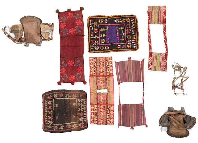A collection of Andean horsegear