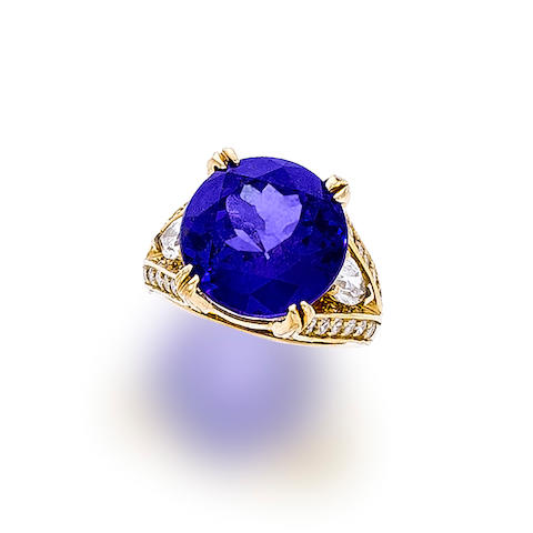 A tanzanite and diamond ring, Kurt Wayne
