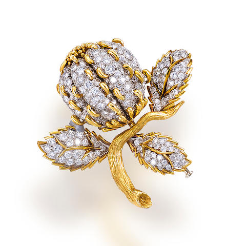 A diamond brooch, David Webb
