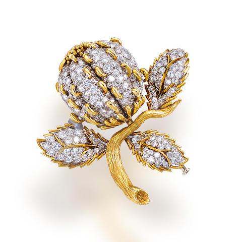 A diamond brooch, David Webb
