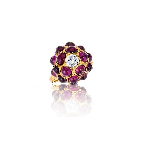 A purple sapphire and diamond ring, Buccellati
