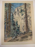 Chiura Obata (1885-1975)<BR />Eagle Peak Trail