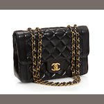 A Chanel black quilted leather handbag