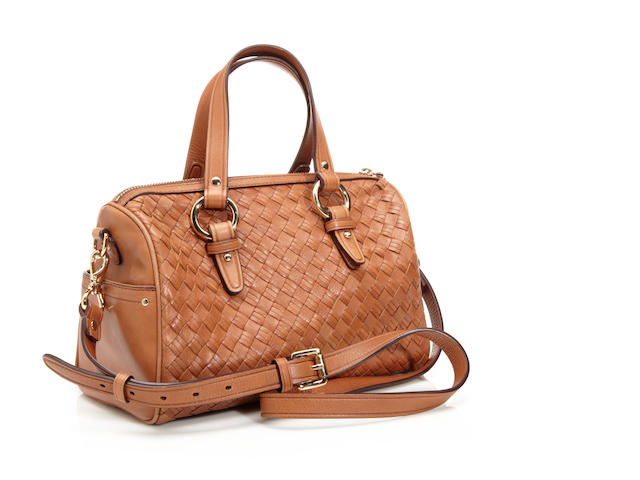 A Cole Haan tan woven leather 'Village Jade' handbag