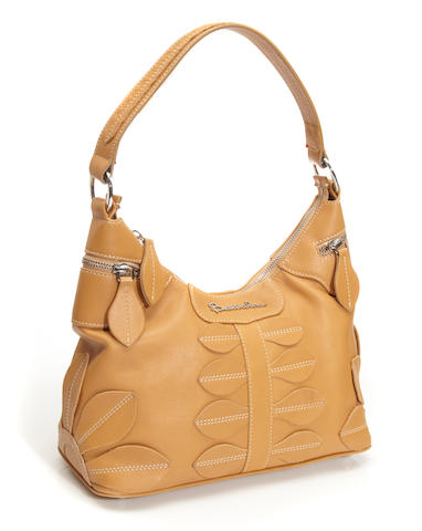 A Braccialini tan leather hobo bag