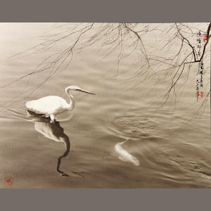 Don Hong-Oai (Chinese, 1929-2004); Pond, China;
