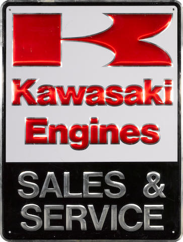 A Kawasaki engines sign,