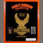 A Harley-Davidson cigarettes sign,