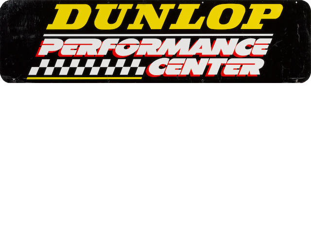 A Dunlop Performance Center sign,