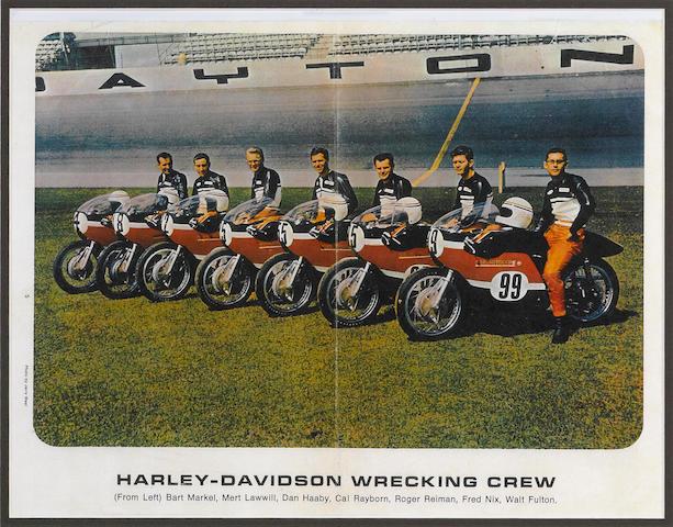 A Harley-Davidson 1968 Wrecking Crew print,