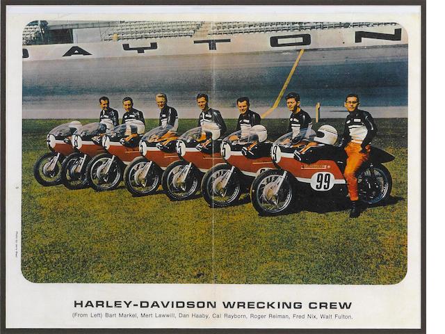 A Harley-Davidson 1968 Wreaking Crew print,