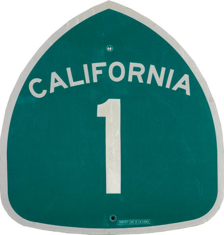 A California US 1 sign,