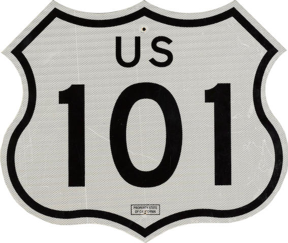 A California, Highway 101 sign,