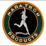 An extreamly rare Marathon sign, c. 1930s,